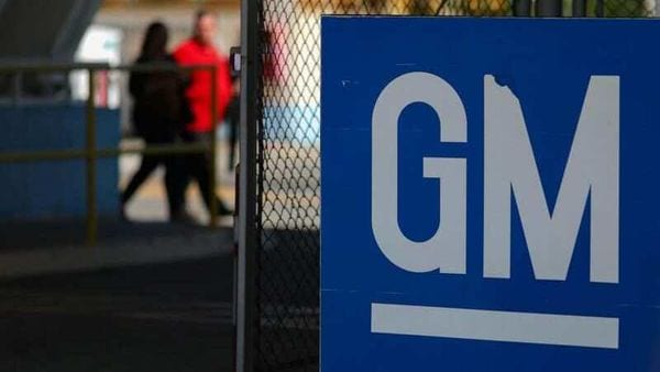 The GM logo is seen at the General Motors plant in Sao Jose dos Campos, Brazil. (REUTERS)