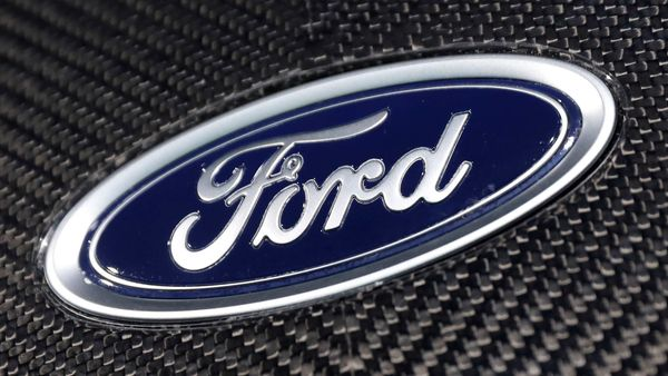 FILE PHOTO: The Ford logo is seen on a vehicle at the New York Auto Show in New York City. (REUTERS)