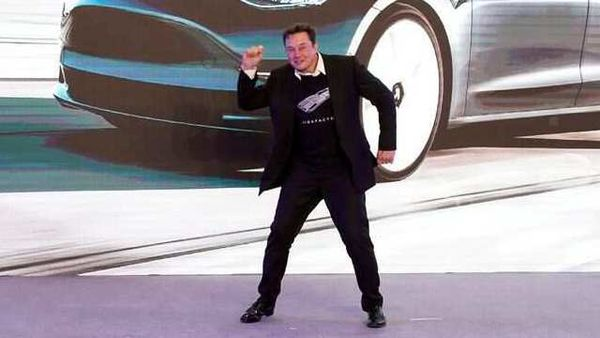 File photo - Elon Musk is dancing his way to the bank as Tesla continues to scale new heights. (REUTERS)