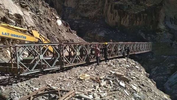 Union Minister Nitin Gadkari said that 85 per cent work on Kailash Mansarovar route via Pithoragarh has been completed. (Photo courtesy: Twitter/@nitin_gadkari)