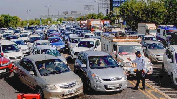 Noida-Delhi border (File photo for representational purpose) (PTI)