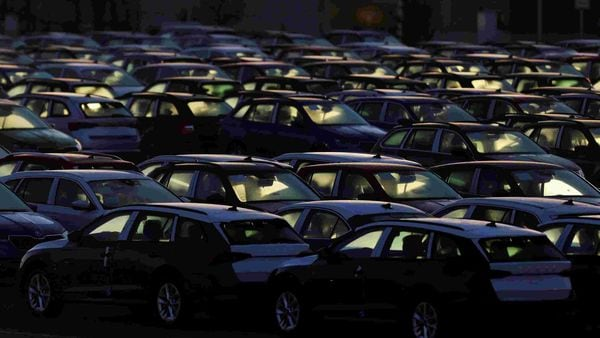 FILE PHOTO: Cars are parked in the courtyard of Skoda Auto's factory as the company restarts production after shutting down in March due to the coronavirus disease (COVID-19) outbreak in Mlada Boleslav, Czech Republic, April 27, 2020. REUTERS/David W Cerny/File Photo (REUTERS)