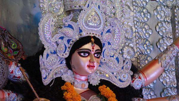 Photo of a Durga idol used for representational purpose