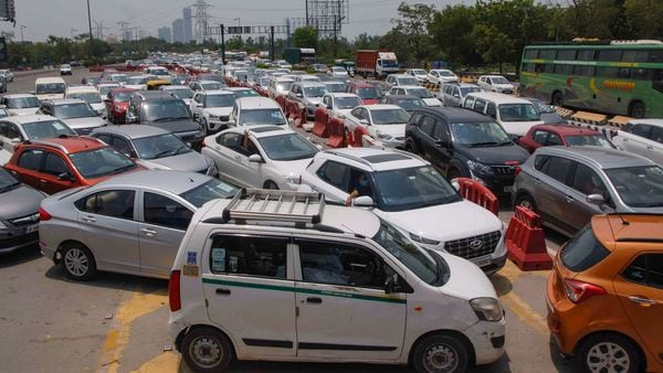 File photo of traffic congestion at Noida-Delhi border. (PTI)