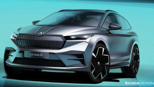 Official sketch of Skoda Enyaq iV electric SUV