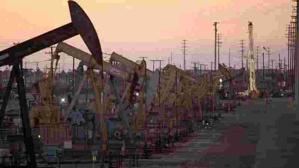 FILE PHOTO: Oil rig pumpjacks, also known as thirsty birds, extract crude from the Wilmington Field oil deposits area. (Representational photo) (REUTERS)