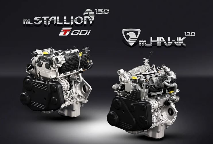 The two engine options on the new Thar from Mahindra.