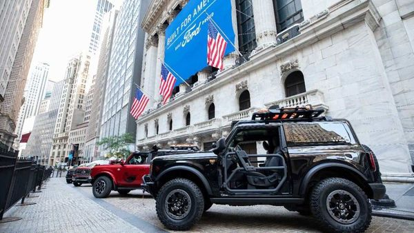 The New York Stock Exchange welcomed the new Ford F-150 and Bronco SUV as part of the bell-ringing event.