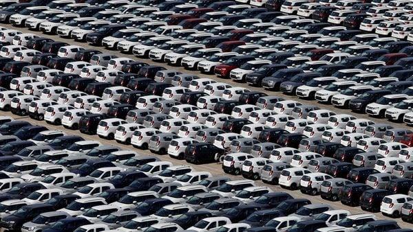 File photo - Cars are seen parked at Maruti Suzuki's plant at Manesar, Haryana. (REUTERS)