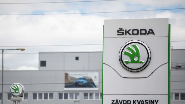 Representational file photo of Skoda logo placed outside its factory. (Bloomberg)