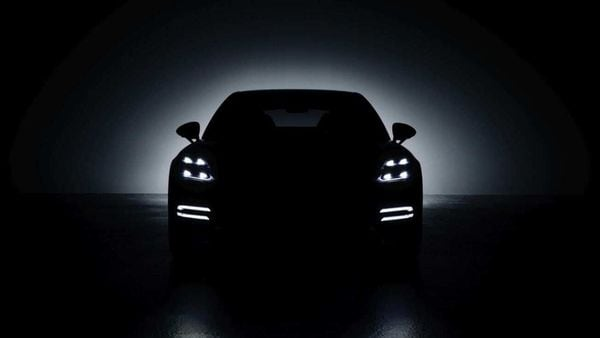 Porsche teased the new Panamera hybrid sports car ahead of its launch.