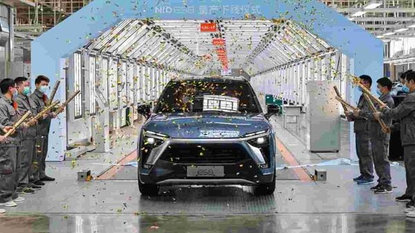 The new NIO ES8 will continue to be powered by two electric motors - a 160 kW permanent magnet motor and a 240 kW induction motor. (Photo courtesy: Twitter/@NIOGlobal) (Representational Image)