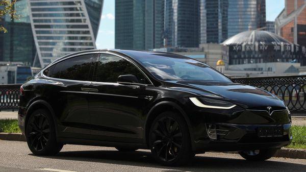 A Tesla Model X electric vehicle (REUTERS)