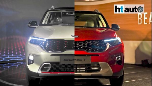 The Kia Sonet GT Line (left) and Tech Line (right) are the only two trims available for the new sub-compact SUV.