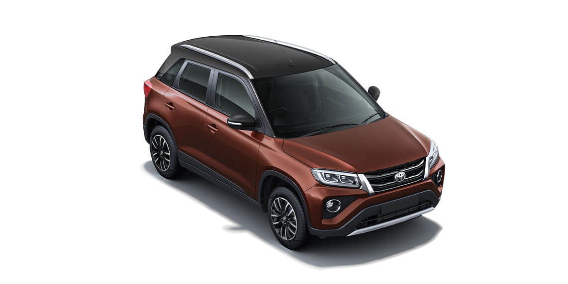 Toyota Urban Cruiser in dual tone Brown/Black colour.