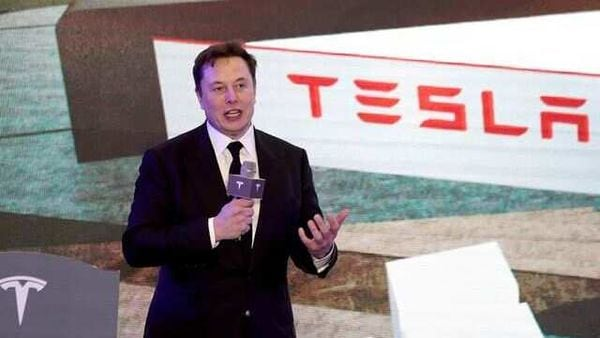 Tesla CEO Elon Musk has suggested the US electric carmaker may be able to mass produce longer-life batteries with 50% more energy density in three to four years. (REUTERS)