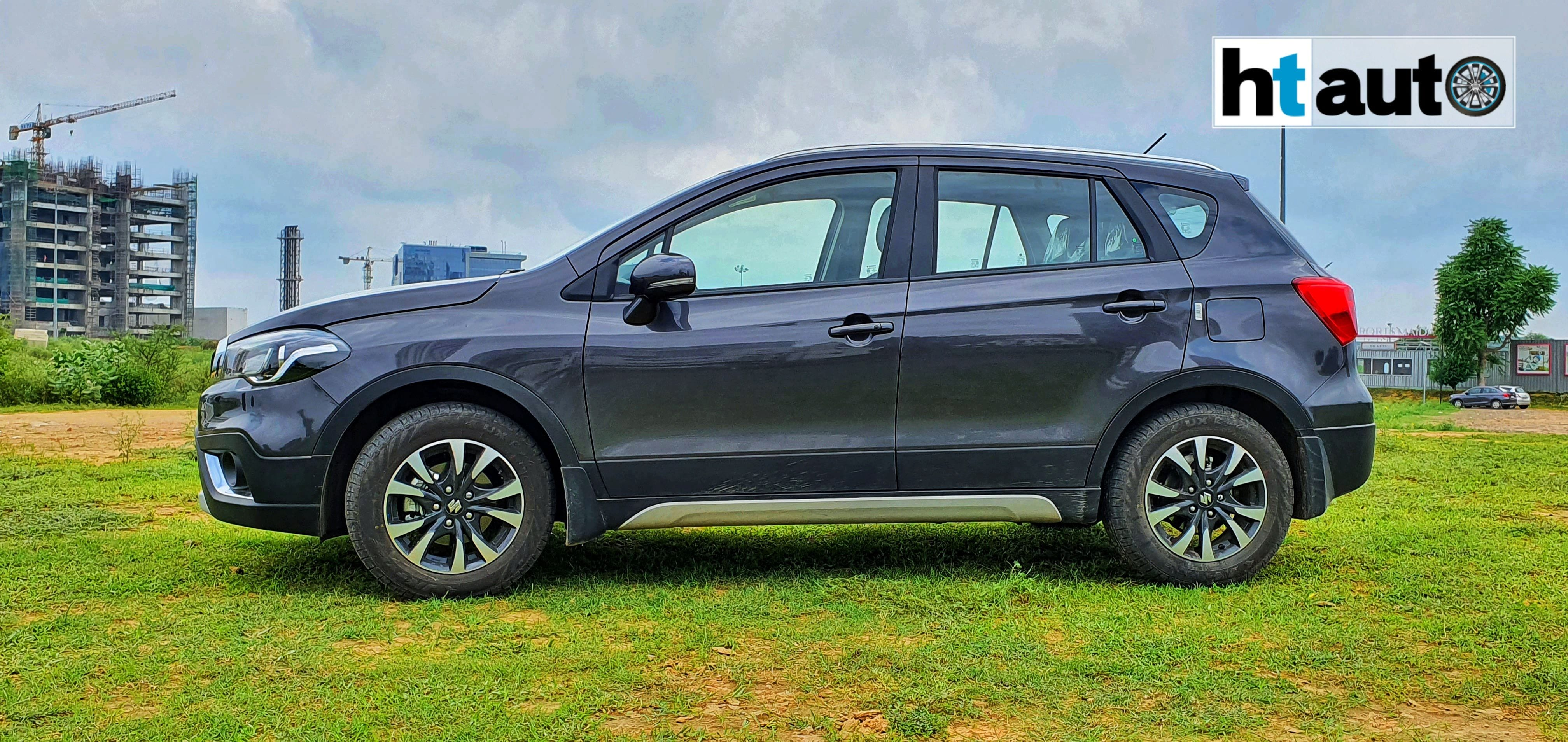 Pricing of the 2020 S-Cross starts at  <span class='webrupee'>₹</span>8.39 lakh (ex showroom) and goes up to  <span class='webrupee'>₹</span>12.39 lakh (ex showroom) for the Alpha automatic option. (HTAuto/Sabyasachi Dasgupta)