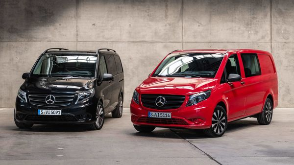 Photo of the facelift versions of Mercedes Vito and eVito minivans