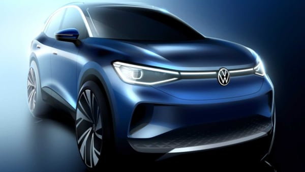 VW ID.4 electric crossover concept teaser