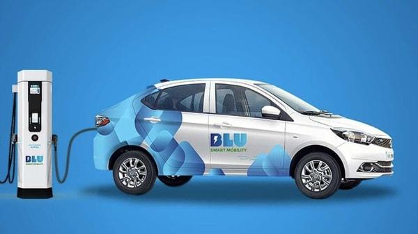 BluSmart provides sustainable urban mobility to customers. (Photo courtesy: Twitter/BluSmartIndia)