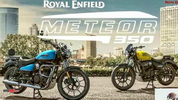 Royal Enfield Meteor 350 will be made available in three trims. Image Credits: Rushlane.com