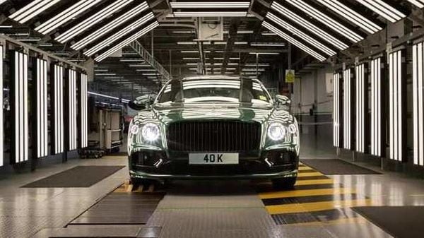 The 40,000th unit of Bentley's Flying Spur luxury sports sedan.