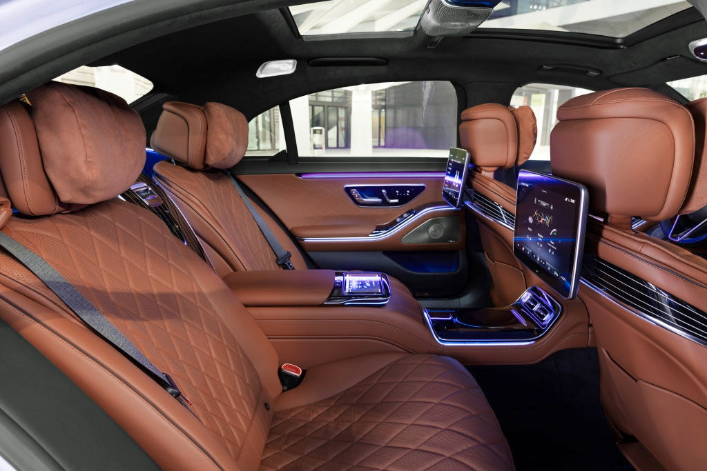 The upholstery - in Nappa leather - is as premium as it gets and there are 10 massage functions apart from the usual fare of heating, ventilation etc.