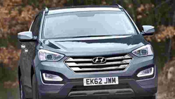 Hyundai Santa Fe was among 6 lakh models recalled by the company and Kia Motors. (File photo)