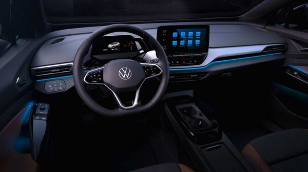 Interior design of the upcoming Volkswagen ID.4 electric SUV.