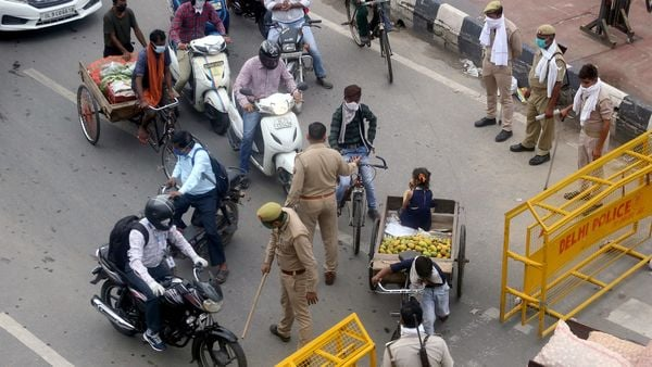 As many as 1,400 vehicles were challaned, while another 13 were impounded for flouting Covid-19 curbs in Noida. (File photo)