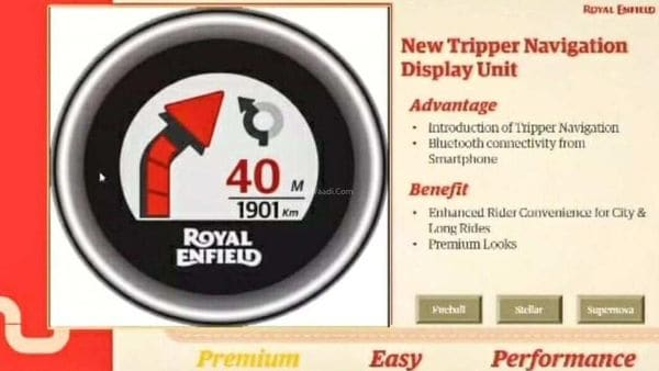 Royal Enfield Meteor 350 will get a Tripper Navigation feature. Image Source: YouTube