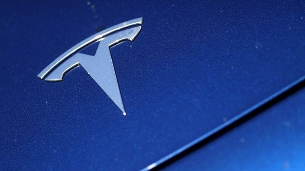 File photo - The Tesla logo is seen on a car in Los Angeles, California. (REUTERS)