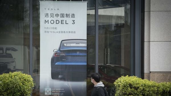 Model 3 is the most affordable car from Tesla currently and is also manufactured in Shanghai. (Bloomberg)