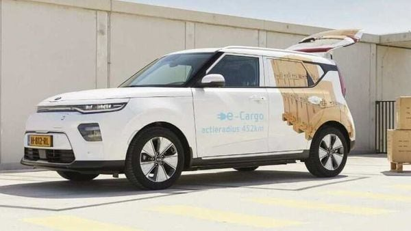 Representational photo of an electric delivery van