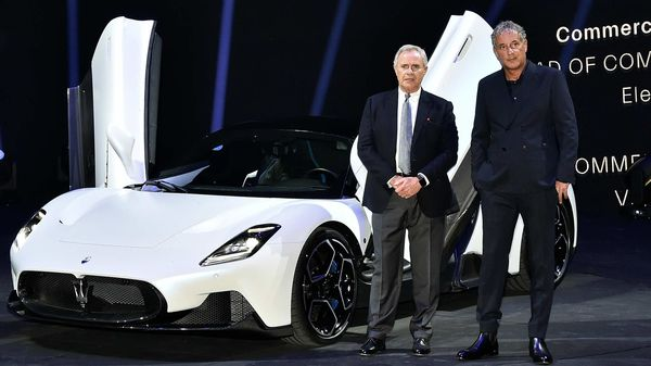 The unveiling of the new Maserati MC20 super sports car in Modena, Italy. (REUTERS)