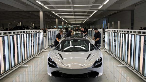 Representational file photo of a McLaren 720S seen on a production line. (AFP)