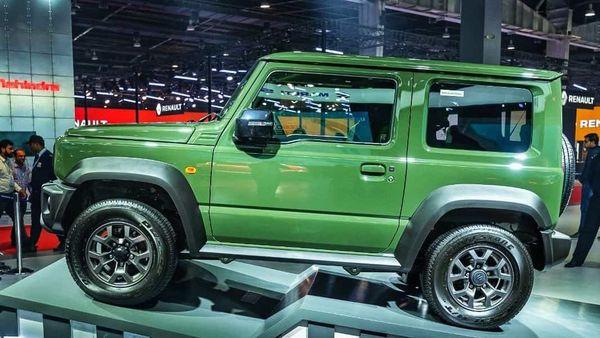 Suzuki Jimny on display at the Auto Expo 2020,