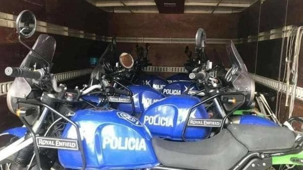 Slightly modified Royal Enfield Himalayan for the Argentinean police force.