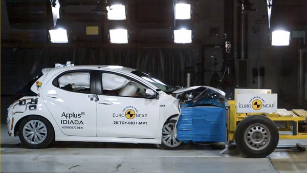 Toyota's latest small family car, the Yaris, has passed the Euro NCAP crash test with full five stars. (Photo courtesy: Euro NCAP)