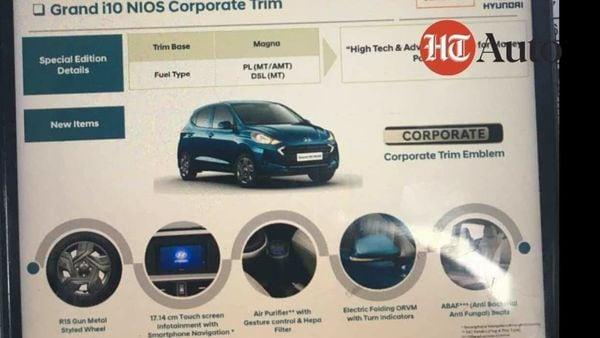 Hyundai Grand i10 Nios Corporate Edition brochure.