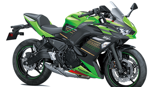 New Kawasaki Ninja 650 in Lime Green colour.