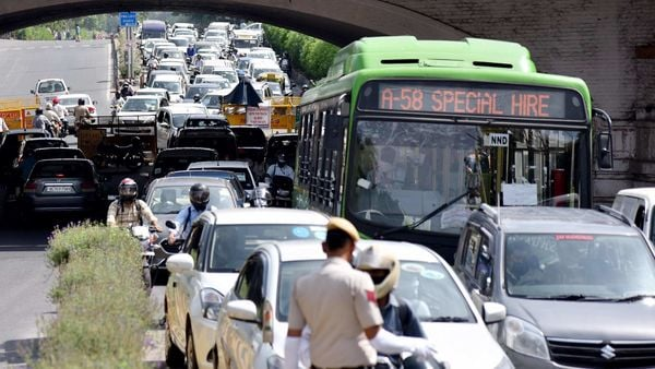 Vehicles at Minto Road near Connaught Place in New Delhi. (File photo)