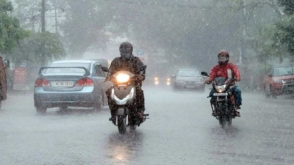 Vehicles move on the road during heavy rain in Kochi. (File Photo)