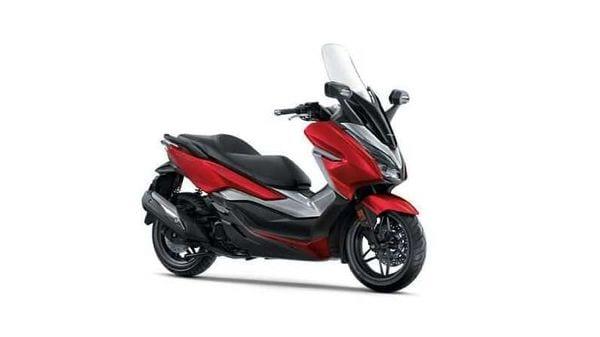A representational image of Honda Forza 300 scooter.