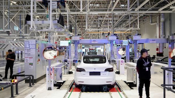 File photo - Tesla has managed to take on the Chinese EV market with gutso and its production facility in Shanghai is now ready to manufacture Model Y, apart from the affordable Model 3 already made here. (REUTERS)