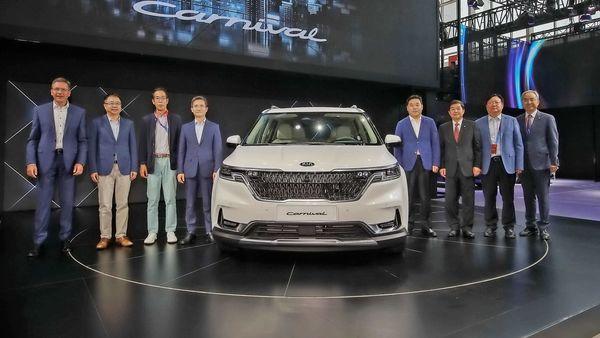 Kia Motors showcased the fourth generation Carnival MPV at the Beijing Auto Show.