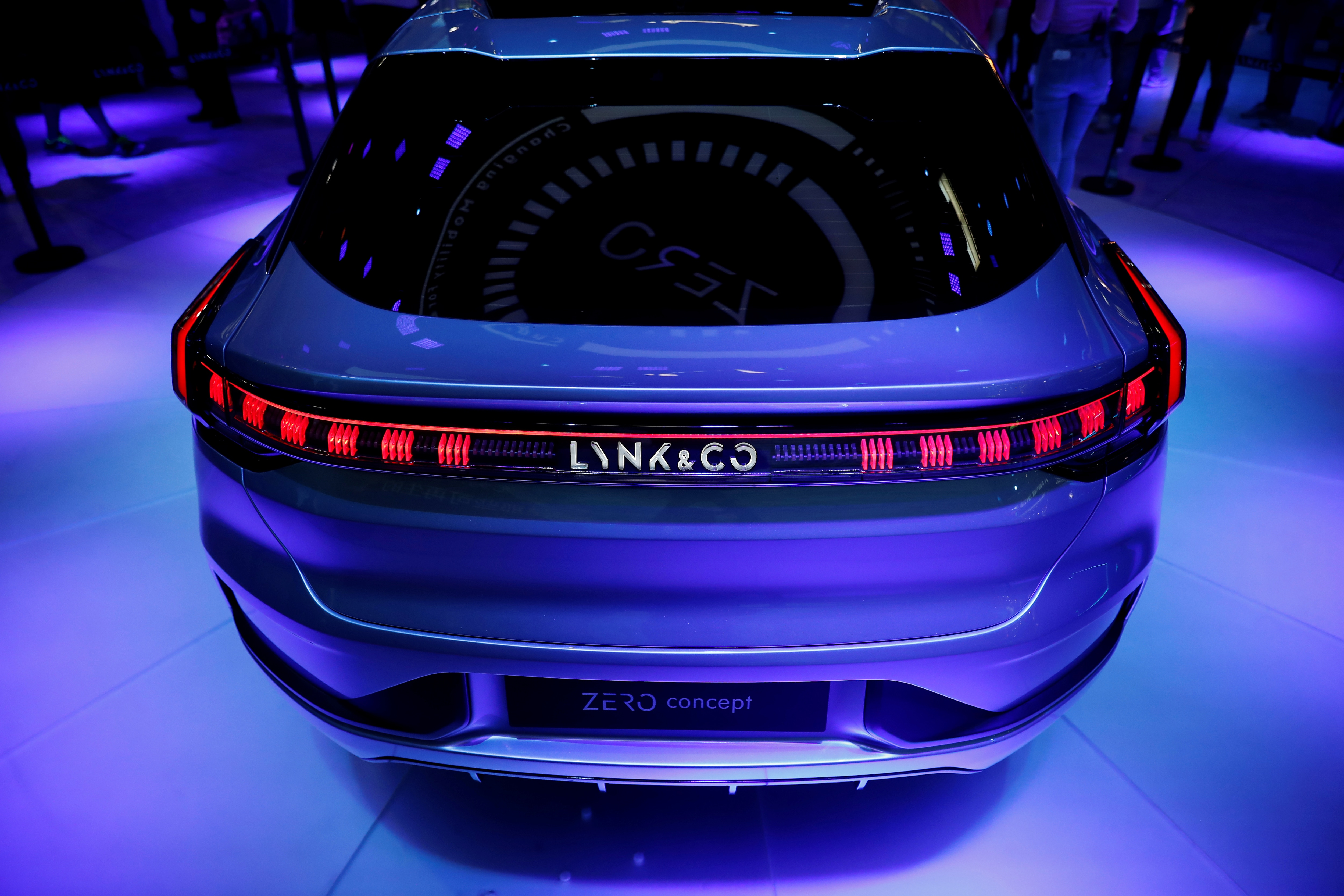 The Lynk & Co Zero Concept car is seen at the exhibition. (REUTERS)