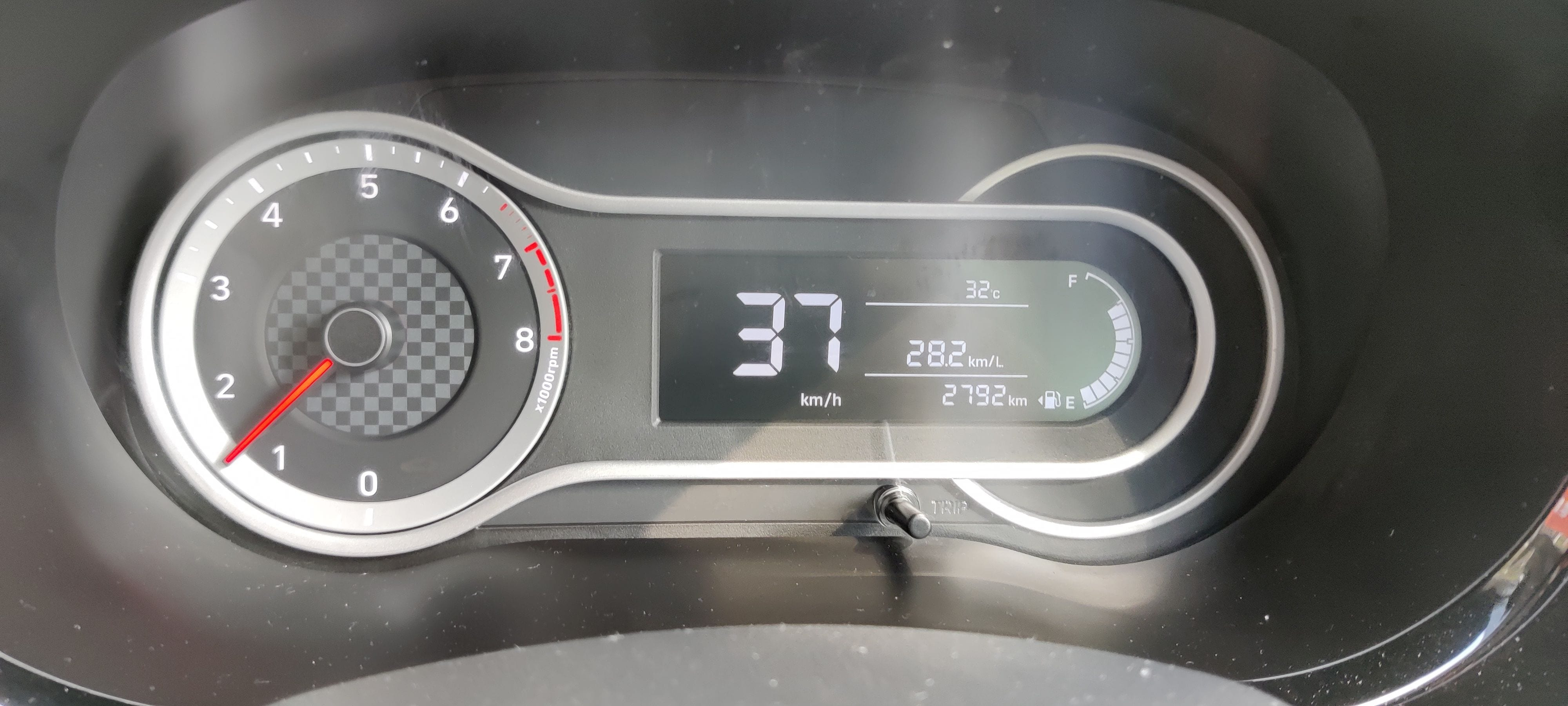 The car gets an eight-inch infotainment screen, a 5.3-inch digital instrument cluster, rear AC vents, rear 12V charging point and USB, headlight height adjuster, among others. (Photo - Sabyasachi Dasgupta)