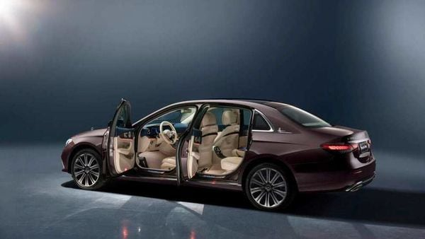 Mercedes says the E-Class LWB offers more comfort for rear-seat passengers than the regular version of the sedan.