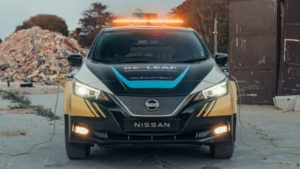 Nissan claims that Re-Leaf can be driven straight into the center of a disaster where it can be parked to provide a steady and reliable source of power for rescue and relief operations.